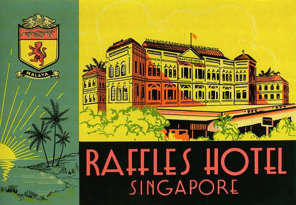 Raffles Hotel Art Print