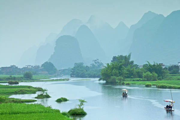 Raft Photograph - Rafting In China by Phototropic