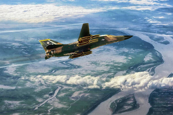 General Dynamics Digital Art - Raging Road Runner by Peter Chilelli