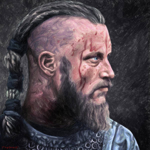 Wall Art - Painting - Ragnar Lodbrok by Zapista Zapista