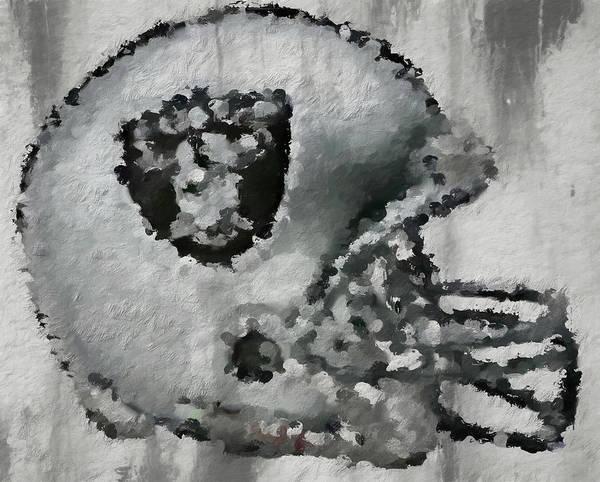 Painting - Raiders Abstract Helmet by Dan Sproul