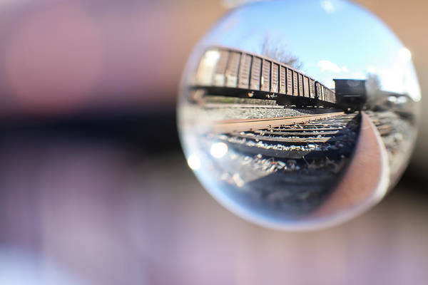 Wall Art - Photograph - Rail And Car by Jimmy Taaffe