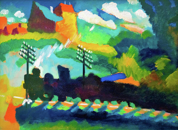 Wall Art - Painting - Railroad At Murnau - Digital Remastered Edition by Wassily Kandinsky
