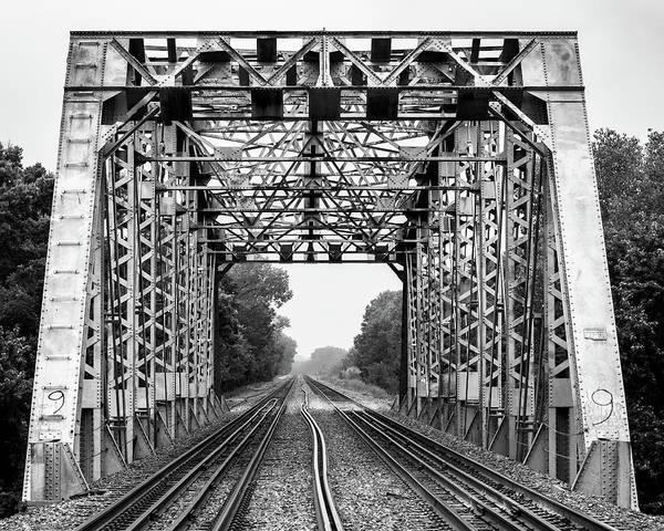 Photograph - Railroad Bridge 1905 by Jeff Phillippi