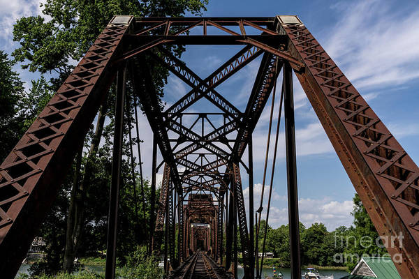 Photograph - Railroad Bridge 6th Street Augusta Ga 2 by Sanjeev Singhal