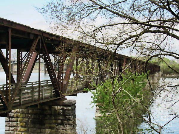 Photograph - Railroad Bridge In Muscle Shoals Alabama by Roberta Byram
