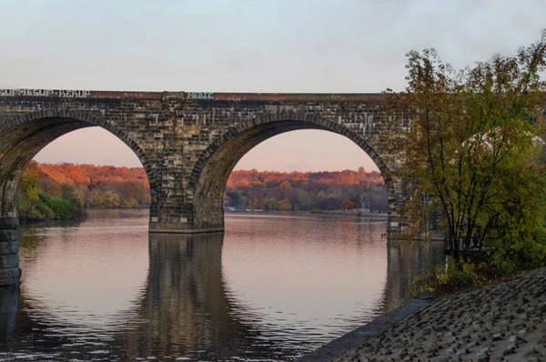 Photograph - Railroad Bridge - Schulykill River - Philadelphia by Bill Cannon