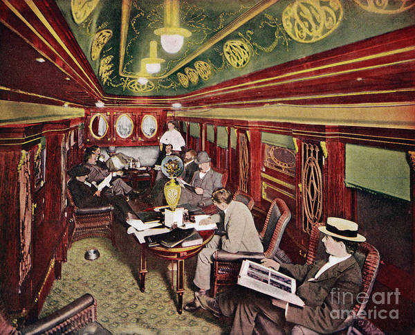 Photograph - Railroad Club Car, 1899 by George Mead