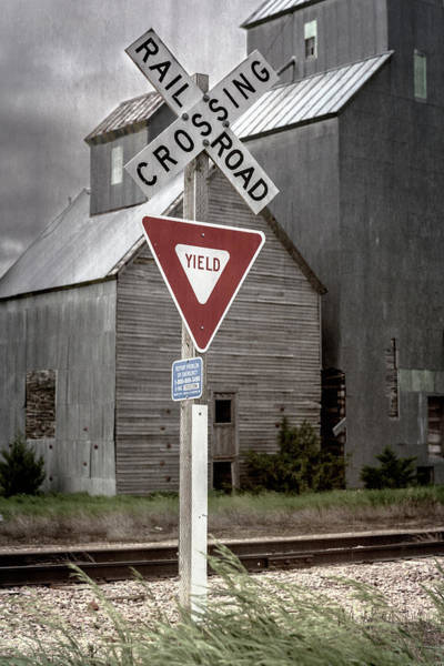 Wall Art - Photograph - Railroad Crossing Cottonwood South Dakota II by Joan Carroll
