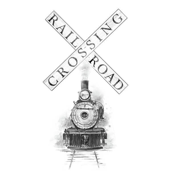 Wall Art - Painting - Railroad Crossing by Patricia Pinto