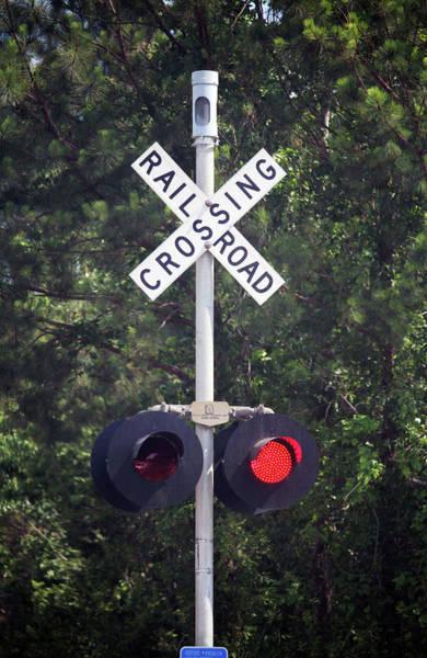 Photograph - Railroad Crossing Warning Signal by Cynthia Guinn