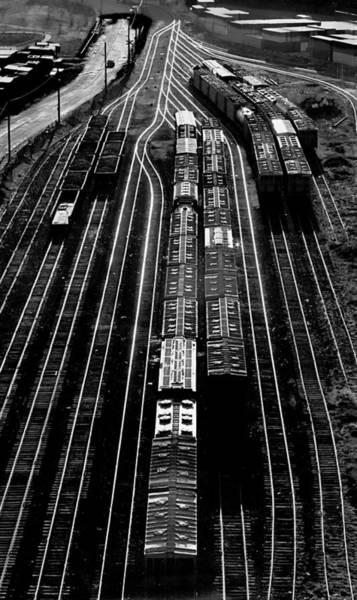 Photograph - Railroad Freight Yard On Mystic Pier by Spencer Grant