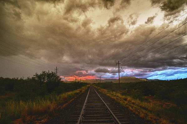 Photograph - Railroad Tracks Drama by Chance Kafka