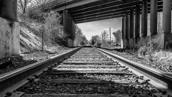 Photograph - Railroad Tracks by Louis Dallara