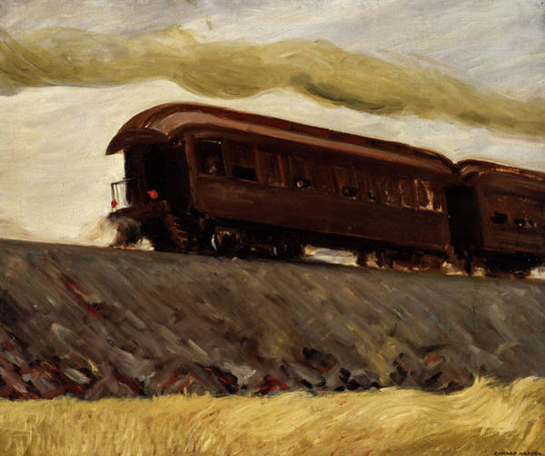 Wall Art - Painting - Railroad Train, 1908 by Edward Hopper