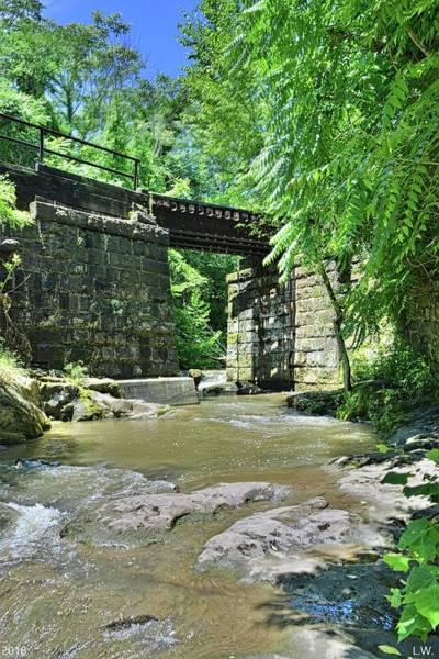 Photograph - Railroad Trestle At Buttermilk/homewood Falls Beaver Falls Pennsylvania Vertical by Lisa Wooten