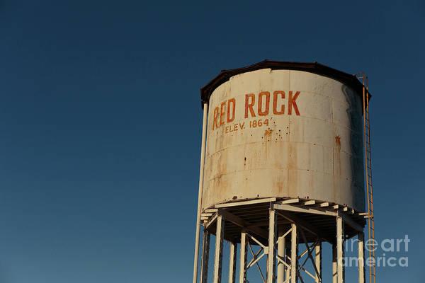 Wall Art - Photograph - Railroad Water Tower Red Rock Arizona by Edward Fielding