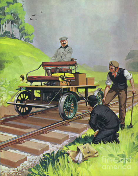 Wall Art - Painting - Railway Automobile by Angus McBride