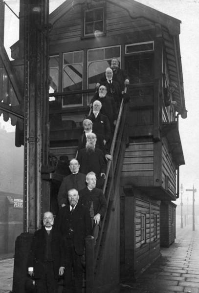 Gray Hair Photograph - Railway Employees by Topical Press Agency