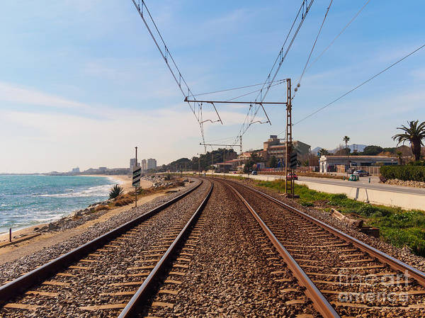 Wall Art - Photograph - Railway To The Coast Of The by Pere Rubi