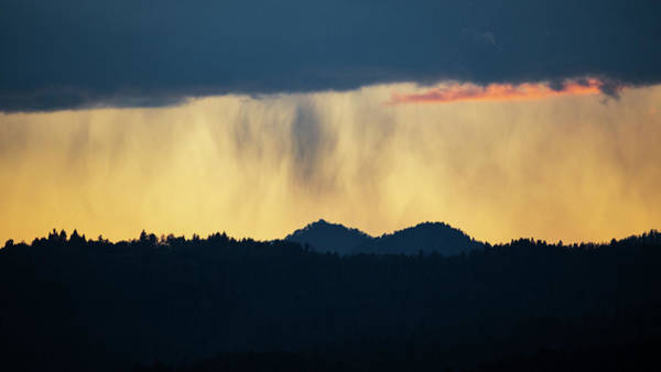 Wall Art - Photograph - Rain At Sunset Over The Ljubljana Hills by Ian Middleton