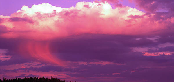 Magenta Photograph - Rain Cloud At Sunset, Pacific Northwest by Stuart Westmorland