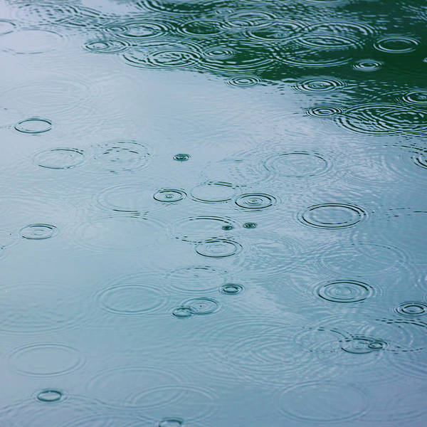 Rain Photograph - Rain Drops And Water Ripples by Arctic-images