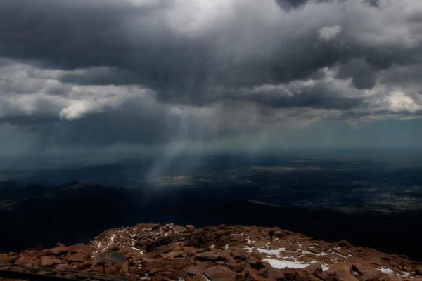 Photograph - Rain Falling In Distance On Mountain by Dan Friend