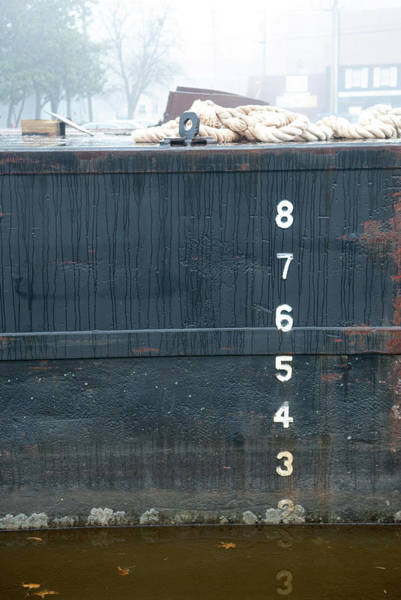 Photograph - Rain On A Barge by Mark Duehmig
