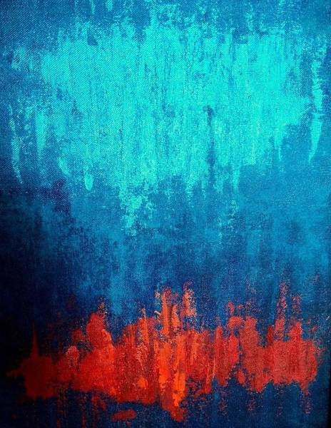Wall Art - Painting - Rain On Fire by Asha Sudhaker Shenoy