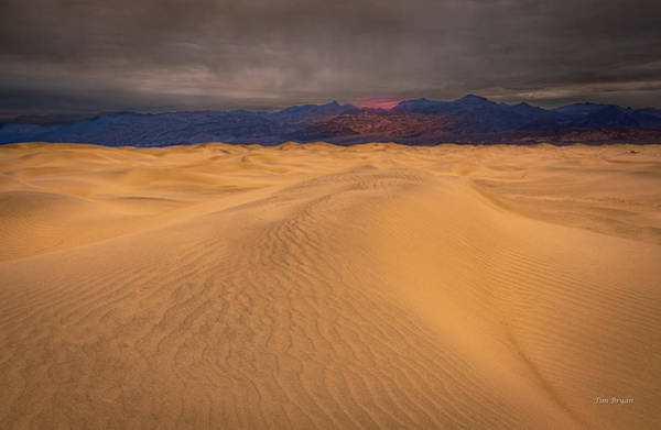 Photograph -  Rain Showers At Dawn Over Death Valley by Tim Bryan
