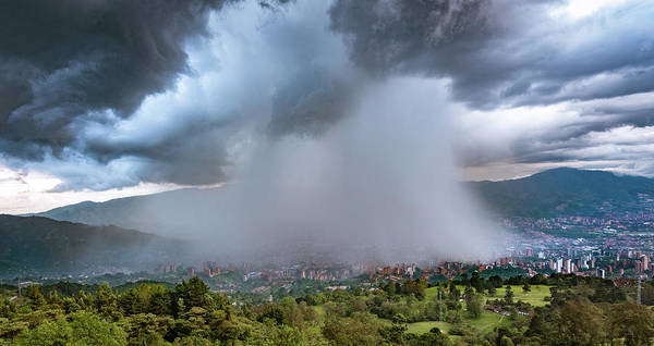 Photograph - Rain Storm Over Medellin by Francisco Gomez