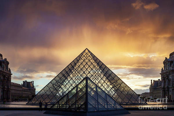 Photograph - Rain Storm Over Musee Du Louvre by Brian Jannsen