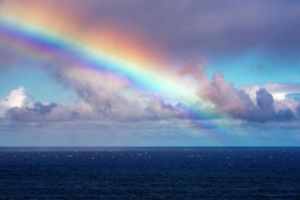 Wall Art - Photograph - Rainbow And Squall Over The Pacific by Russ Bishop