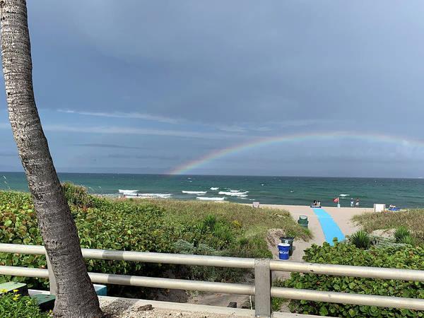 Photograph - Rainbow At Beach 2 by Karen Zuk Rosenblatt