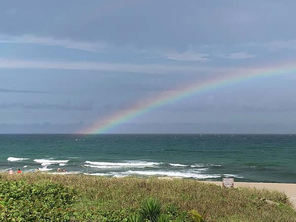 Photograph - Rainbow At Beach by Karen Zuk Rosenblatt