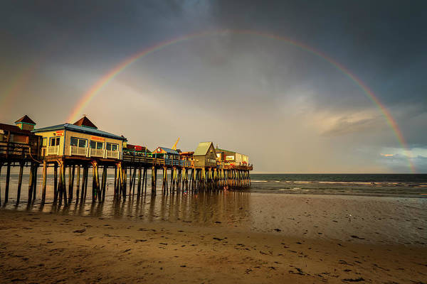 Photograph - Rainbow At Old Orchard Beach Pier by Christina DeAngelo