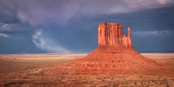 Photograph - Rainbow Background In Monument Valley by Harriet Feagin