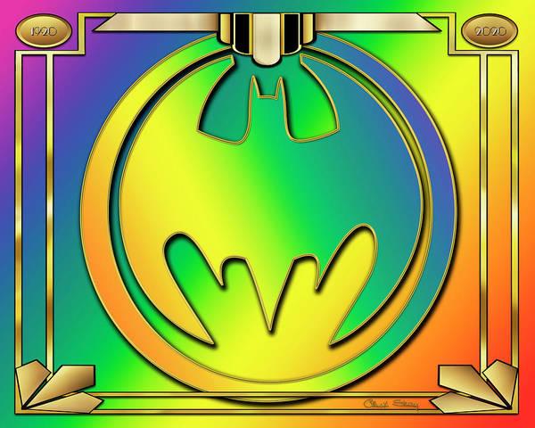 Digital Art - Rainbow Bat Design by Chuck Staley