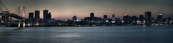 Wall Art - Photograph - Rainbow Bridge & Tokyo Skyline by Chris Jongkind