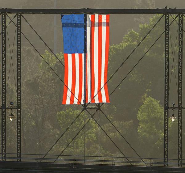 Photograph - Rainbow Bridge Flag by Jonathan Hansen