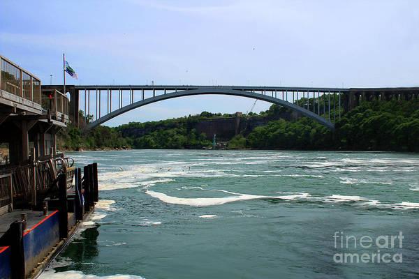 Photograph - Rainbow Bridge Niagara Falls by Doc Braham
