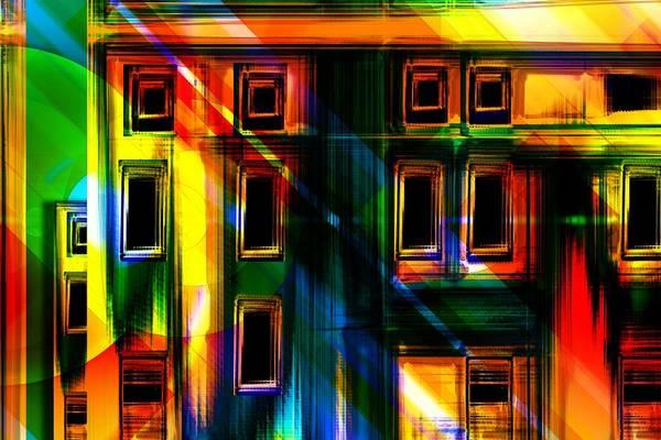 Construction Painting - Rainbow Building by ArtMarketJapan