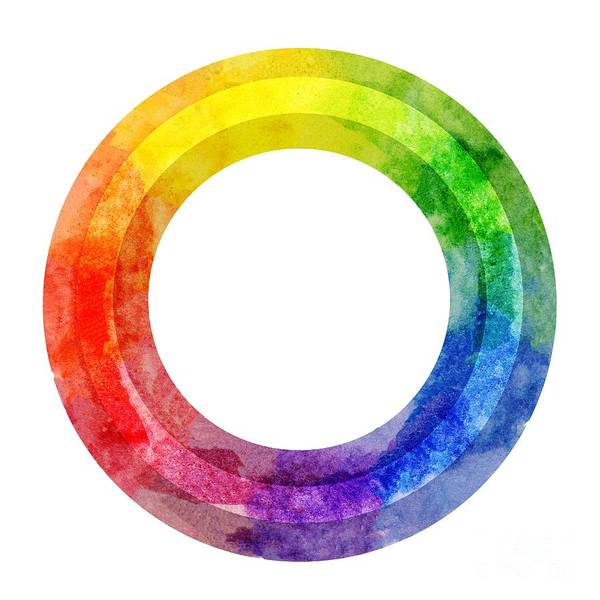 Painting - Rainbow Color Wheel by Lauren Heller