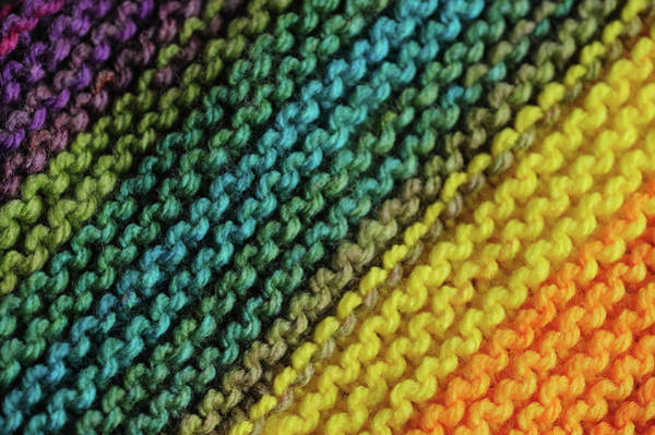 Photograph - Rainbow Colors And Knitting Passion 1 by Jenny Rainbow