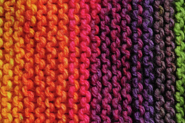 Photograph - Rainbow Colors And Knitting Passion 5 by Jenny Rainbow