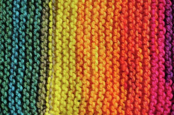 Photograph - Rainbow Colors And Knitting Passion 6 by Jenny Rainbow
