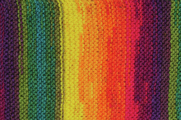Photograph - Rainbow Colors And Knitting Passion 7 by Jenny Rainbow