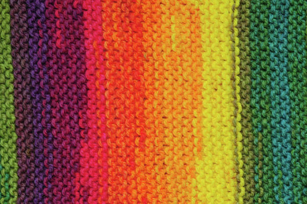 Photograph - Rainbow Colors And Knitting Passion 8 by Jenny Rainbow