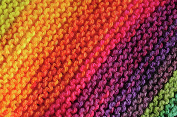 Photograph - Rainbow Colors And Knitting Passion by Jenny Rainbow